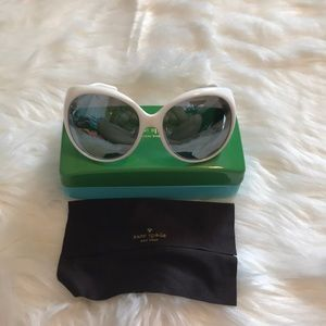 Kate Spade NWOT polarized white Keeley sunglasses